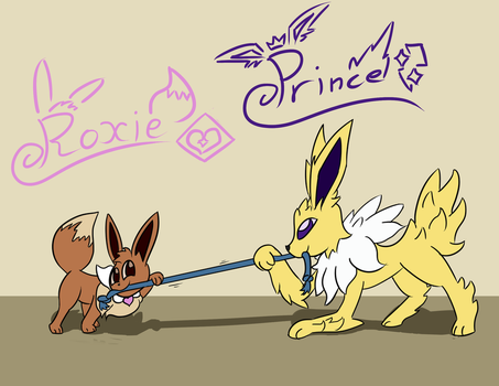 Roxie and Prince by The-One-Aardvark