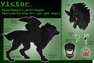 Victor 2.0 // Ref Sheet (Wolf ver) by JinaGrey119