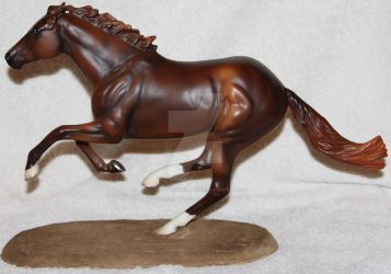 And They're Off - Handmade Breyer Racetrack Base by Lovely-DreamCatcher