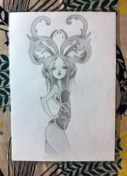 Girl with horns (Duplication / Anarkitty) by MechantPP