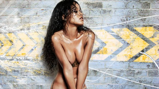 Rihanna topless Wallpaper 1080p by FunkyCop999