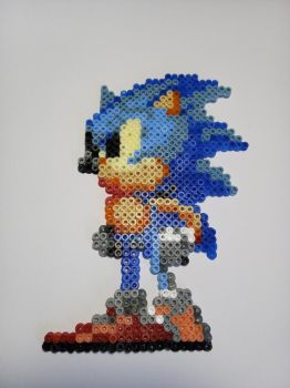 Sonic The Hedgehog Perler by AefeN53