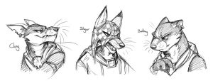 Redwall Villains (Slight Redesigns) by Temiree