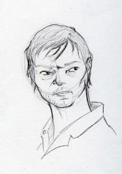 Day 24_TV-Daryl Dixon by WimpleToad