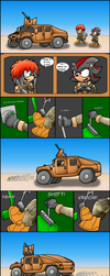Shadow and Ryan driving a humvee by RyanWolfSEAL