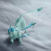 Glaceon by Mehkas