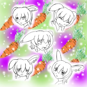 Bunny Heads by Caladria