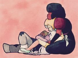 Gem Hug by UnluckyWarrior