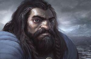 Portrait of Thorin Oakenshield by joelhustak