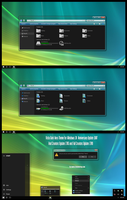 Vista Dark Aero Theme Win10 Fall Creators by Cleodesktop