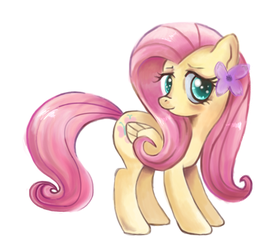 Just fluttershy beeing cute by schnuffitrunks