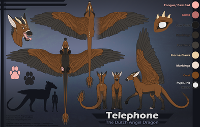 Realistic Telephone Ref Sheet by CanineHybrid