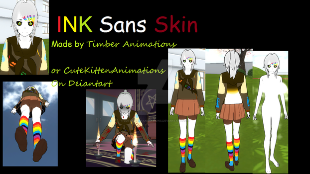 Yandere Simulator Skins: Ink Sans by CuteKittenAnimations on
