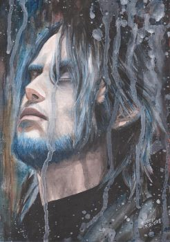 FINAL FANTASY15 NOCTIS Lucis Caelum watercolor by Chenyi87