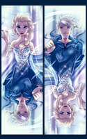 Frozen:ROTG: Elsa and Jack Frost by DarkLitria
