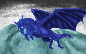 The Blue Dragon by TheSodaSmuggler