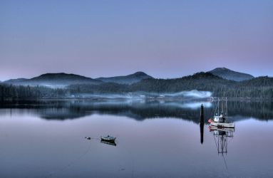 Dawn on the Tongass Narrows by Muskeg