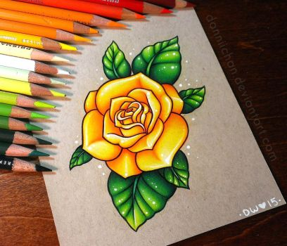 Yellow Rose - Commission by dannii-jo