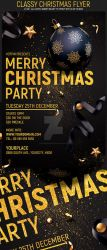 Classy Christmas Flyer by Hotpindesigns