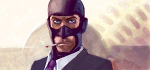 Team Fortress 2 Spy - Graffiti by amygirlgermanpants