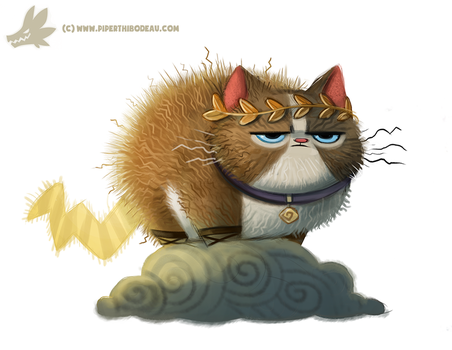 Daily Paint #1032. Zeus Cat by Cryptid-Creations