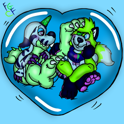 Paws to cheek in a bubble by Coolfruits