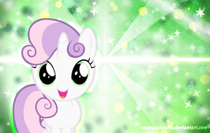 Sweetie Belle Background by cosmocatcrafts