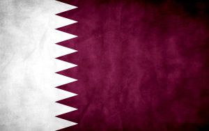 Qatar Grunge Flag by think0