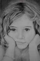 Portrait of girl in pencil by Martenator