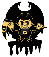The Grim Adventures of Mandy and the Ink Machine by wanderingent