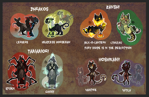Halloween species adopts (with story!) CLOSED by SMASH-ii