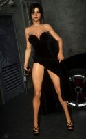 Lara - Long Black Dress 01 by LethalCandy