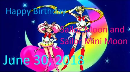 Happy Birthday, Sailor Moon and Sailor Mini Moon by Pikachu-Train