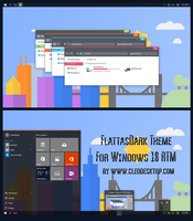 FlattasDark Theme For Windows 10 RTM by Cleodesktop