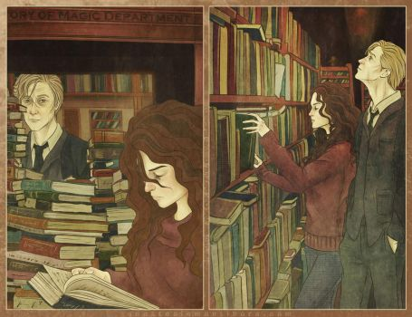 Bookworm at the library by AnastasiaMantihora