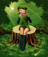 Saria Playing for you by ZaloHero
