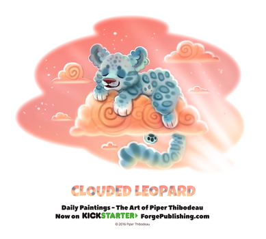 Day 1368. Clouded Leopard by Cryptid-Creations