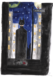 Batman On Crime Alley by Uoso
