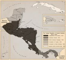 Territorial Evolution of Central America by LaTexiana