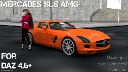 Mercedes SLS AMG for DAZ Studio by Mikey186