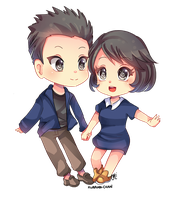 -- Chibi Couple Commission for color-walk -- by Kurama-chan