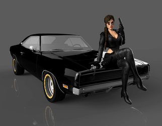 Lara and Dodge Charger by puczkosia