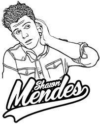 Shawn Mendes printable coloring page by Topcoloringpages