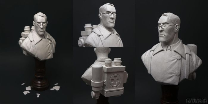 The Medic (Team Fortress 2) Sculpture by Graphesium