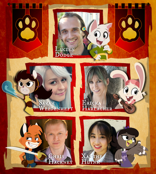 The Voice Acting Cast for True Tail!!! by SkynamicStudios