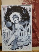 Leia sketch cover by MichaelDooney