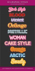 10 Colorful Graphic Styles for Adobe Illustrator. by Love-Kay