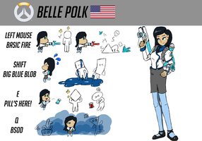 Another Overwatch Character - Belle Polk by ZatGeneral
