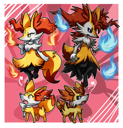 PKMNation :: Braixens! by MahoxyShoujo