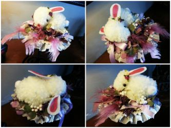 Sleeping Bunny Fascinator by NoFlutter